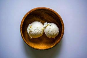 helado casero mascarpone y vainilla